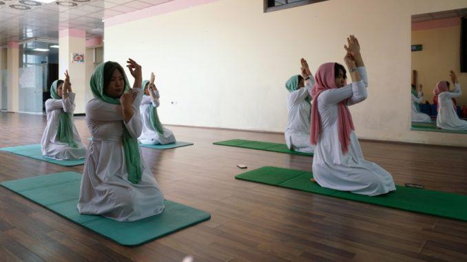 Afghanistan women yoga studio