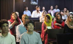 women in Kabul cinema