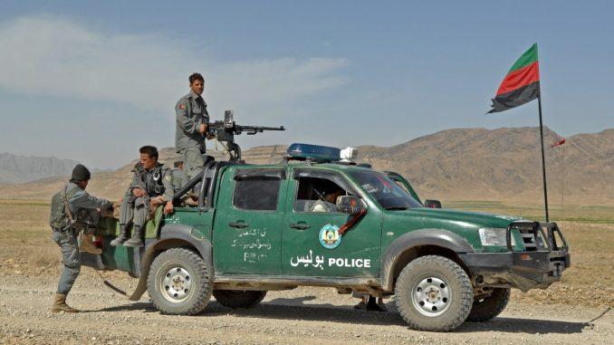 Afghan highway police